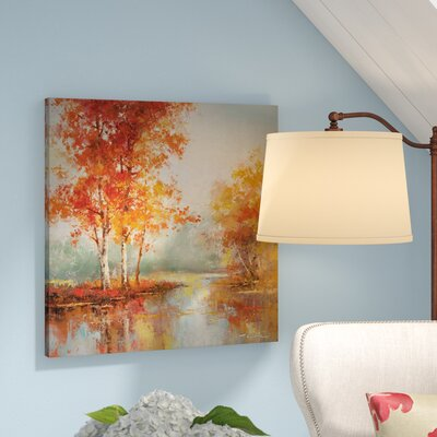 'Autumn's Grace I' Oil Painting Print on Wrapped Canvas Size: 24
