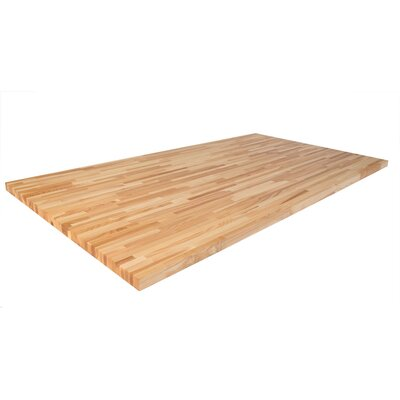 Ash 98 L x 25 W Butcher Block Table Top