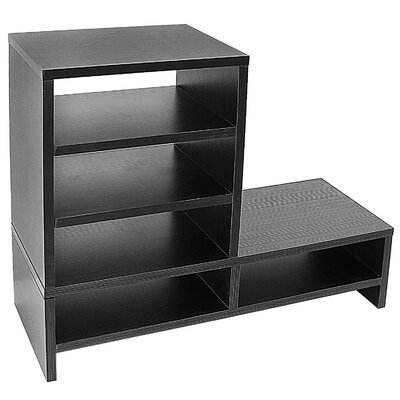 Donoghue Compartment Organizer TV Stand Color: Black/Natural