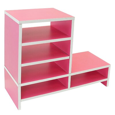 Donoghue Compartment Organizer TV Stand Color: Light Hot Pink