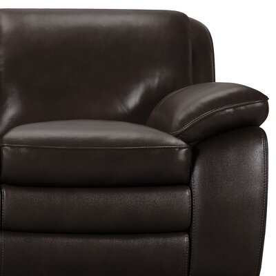 Talon Contemporary Leather Sofa