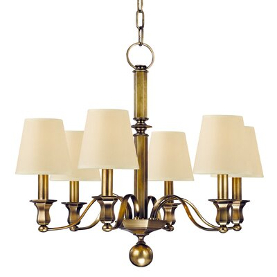 Elbert 6-Light Candle-Style Chandelier Finish: Aged Brass