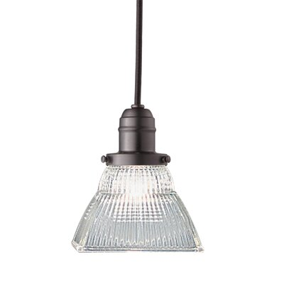 Birchover 1-Light Mini Pendant with Clear Shade Finish: Old Bronze, Size: 13 H x 5.5 W x 5.5 D
