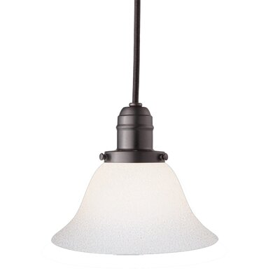 Birchover 1-Light Glass Shade Mini Pendant Finish: Old Bronze, Size: 12.5 H x 7.5 W x 7.5 D