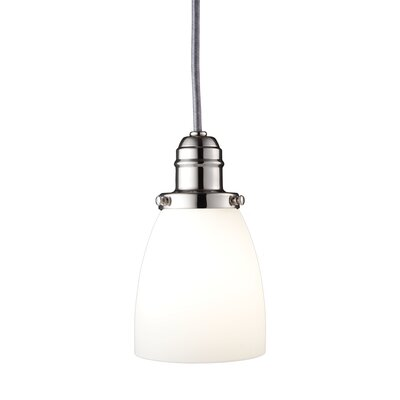 Birchover 1-Light Mini Pendant Finish: Polished Nickel