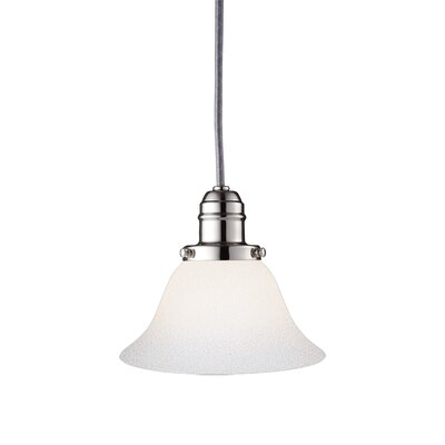 Birchover 1-Light Glass Shade Mini Pendant Finish: Polished Nickel, Size: 10 H x 7.5 W x 7.5 D