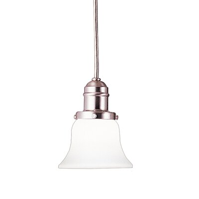 Birchover 1-Light Bell Mini Pendant Finish: Satin Nickel, Size: 10 H x 6 W x 6 D