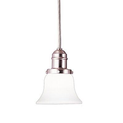 Birchover 1-Light Bell Mini Pendant Finish: Satin Nickel, Size: 13 H x 5.63 W x 5.63 D