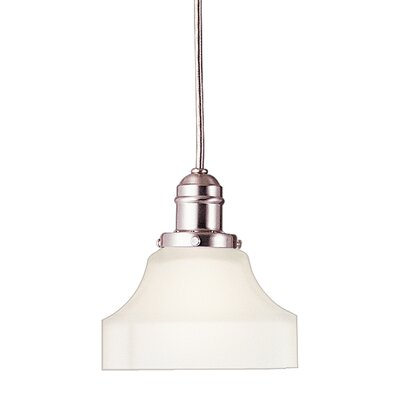 Birchover 1-Light Mini Pendant with Frosted Shade Finish: Satin Nickel, Size: 10.5 H x 5 W x 5 D