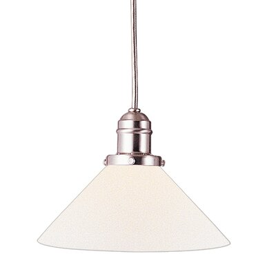 Birchover 1-Light Bell Mini Pendant with Opal Shade Finish: Satin Nickel, Size: 13 H x 8.75 W x 8.75 D