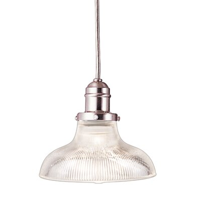 Birchover 1-Light Inverted Pendant Finish: Satin Nickel, Size: 10.5 H x 8.5 W x 8.5 D