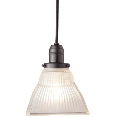 Birchover Contemporary 1-Light Mini Pendant with Frosted Shade Finish: Old Bronze