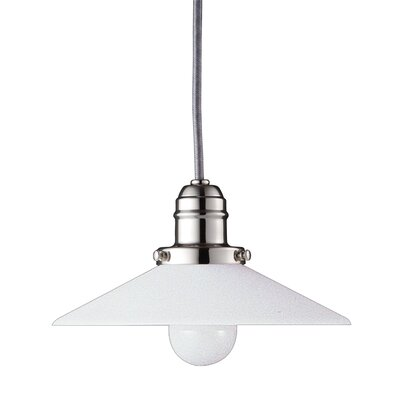 Birchover Contemporary 1-Light Bell Mini Pendant Finish: Polished Nickel, Size: 10.5 H x 8 W x 8 D
