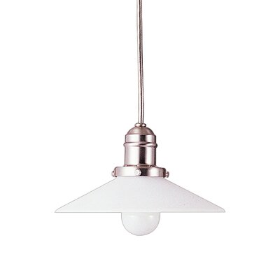 Birchover Contemporary 1-Light Bell Mini Pendant Finish: Satin Nickel, Size: 10.5 H x 8 W x 8 D