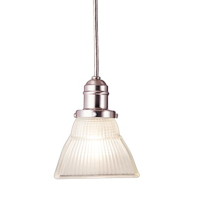 Birchover Contemporary 1-Light Mini Pendant with Frosted Shade Finish: Satin Nickel