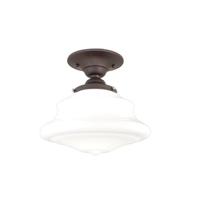 Miranda 1-Light Semi Flush Mount Fixture Finish: Old Bronze