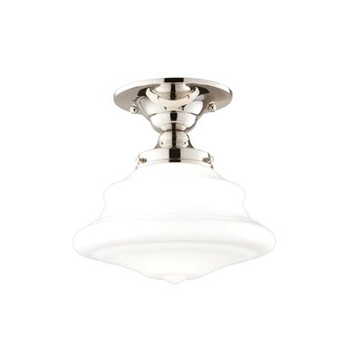 Miranda 1-Light Semi Flush Mount Fixture Finish: Polished Nickel