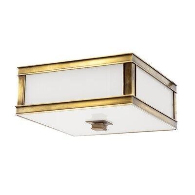 Destanee 2-Light Flush Mount Fixture Finish: Aged Brass