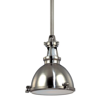 Pullman 1-Light Inverted Pendant Color: Polished Nickel