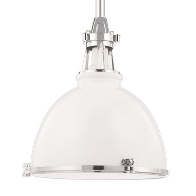 Pullman 1-Light Inverted Pendant Color: White Polished Nickel