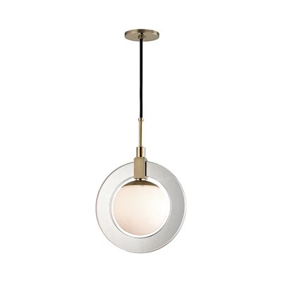 Norris 1-Light LED Geometric Pendant Finish: Aged Brass, Size: 17.75 H x 12 W x 12 D
