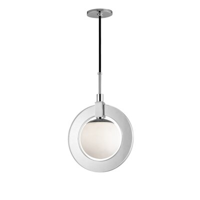 Norris 1-Light LED Geometric Pendant Finish: Polished Nickel, Size: 17.75 H x 12 W x 12 D
