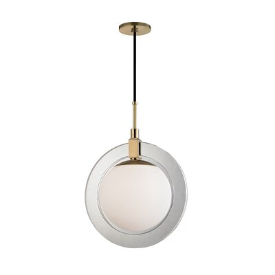 Norris 1-Light LED Geometric Pendant Finish: Aged Brass, Size: 20.75 H x 15 W x 15 D