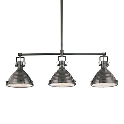 Dimas 3-Light Kitchen Island Pendant Finish: Antique Nickel