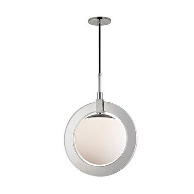 Norris 1-Light LED Geometric Pendant Finish: Polished Nickel, Size: 20.75 H x 15 W x 15 D