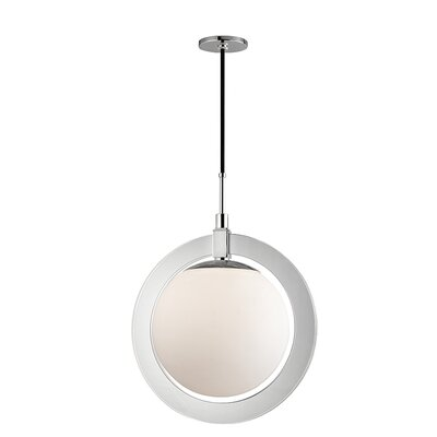 Norris 1-Light LED Geometric Pendant Finish: Polished Nickel, Size: 23.5 H x 17.75 W x 17.75 D