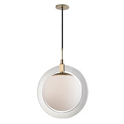 Norris 1-Light LED Geometric Pendant Finish: Aged Brass, Size: 23.5 H x 17.75 W x 17.75 D