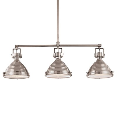 Dimas 3-Light Kitchen Island Pendant Finish: Polished Nickel