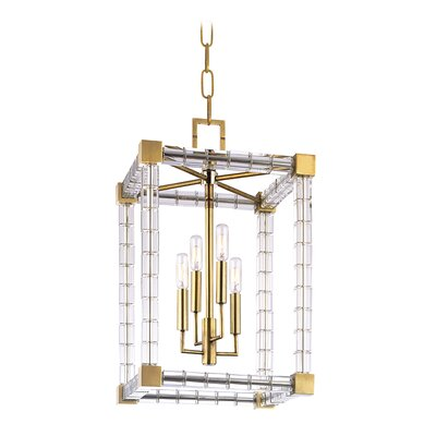 Montauk 4-Light Lantern Pendant Finish: Aged Brass
