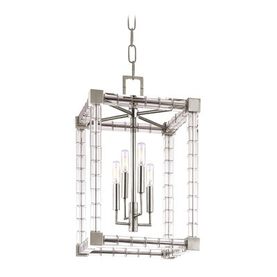 Montauk 4-Light Lantern Pendant Finish: Polished Nickel