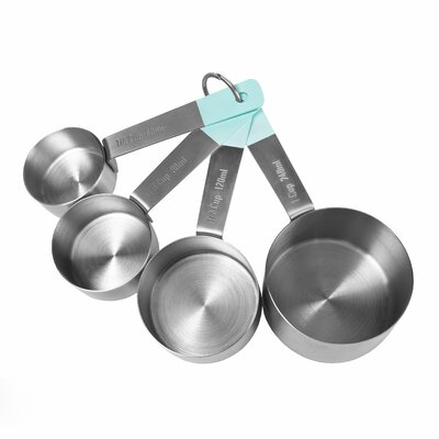 4 Piece Stainless Steel Measuring Cups Set JB3730