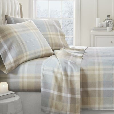 Lefever 4 Piece Sheet Set Size: Twin, Color: Light Blue