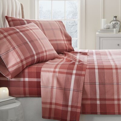 Lefever 4 Piece Sheet Set Size: California King, Color: Red