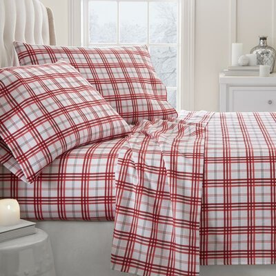 Lefever Traditional 4 Piece Sheet Set Size: Twin