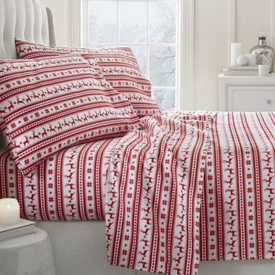 Reindeer 4 Piece Sheet Set Size: Queen