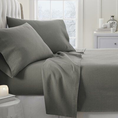 Lessard 4 Piece Sheet Set Size: Twin, Color: Gray