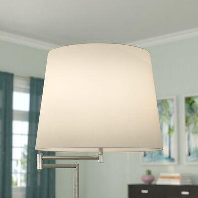 16 Fabric Drum Lamp Shade Color: White