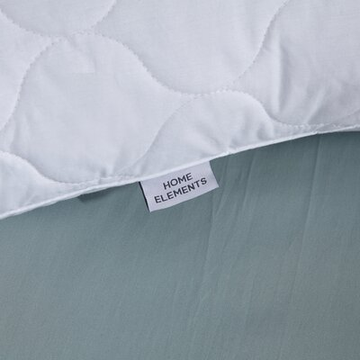Quilted Goose Down and Feathers Pillow Size: King