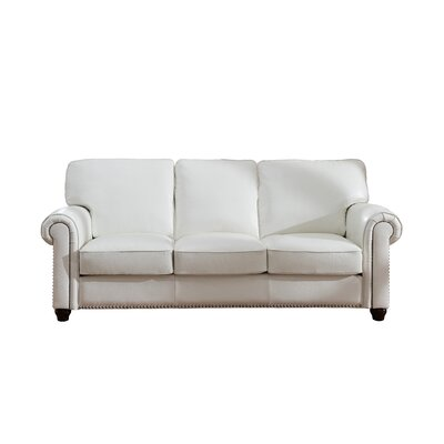 Kiaan Craft Leather Sofa Upholstery: Ivory White