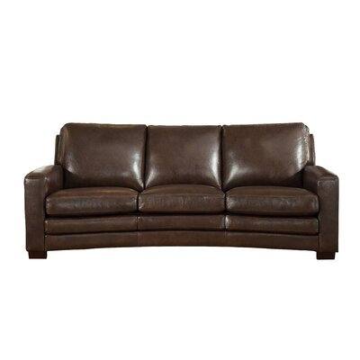 Hadnot Craft Leather Sofa Upholstery: Dark Brown