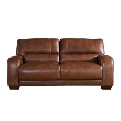 Hadsell Craft Leather Sofa Upholstery: Brown