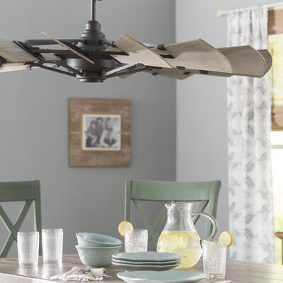 Froid 60 Windmill 15 Blade Ceiling Fan Finish: Oiled bronze
