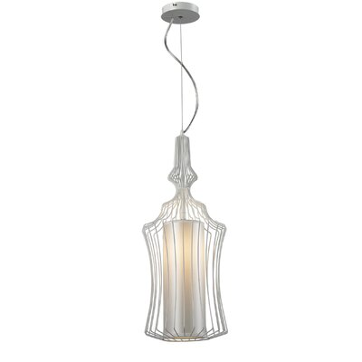 Heaton Iron 1-Light Foyer Pendant Shade Color: White
