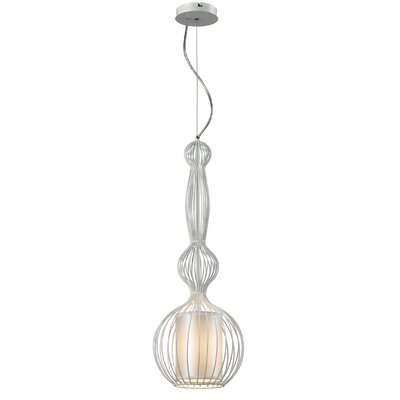 Heberling Iron 1-Light Foyer Pendant Shade Color: White