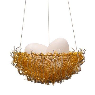 Verlie Metal 2-Light Bowl Pendant Shade Color: Gold