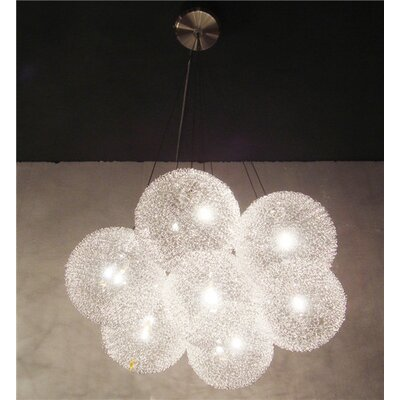 Shetler Metal 7-Light Cluster Pendant